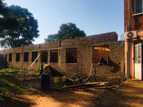 Construction of new building on going at Iganga Municipal Council offices